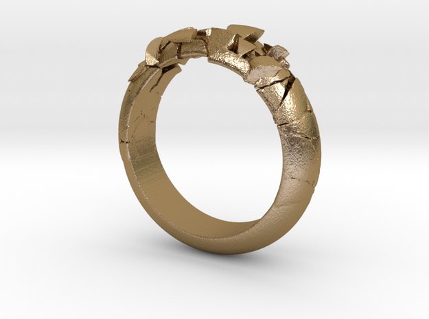 Ring explosion.  in Polished Gold Steel