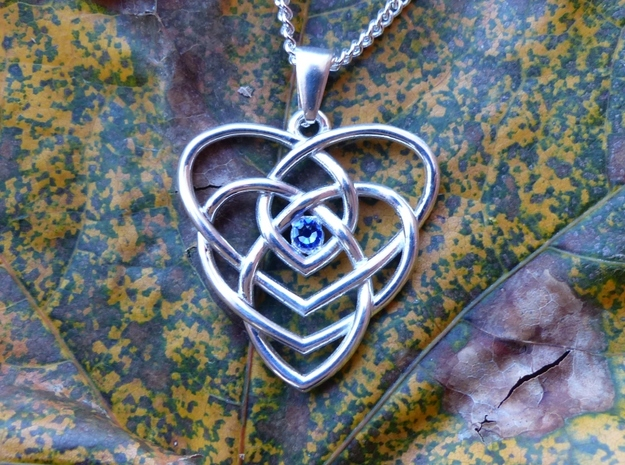 Motherhood Knot - No Birthstones in Polished Silver
