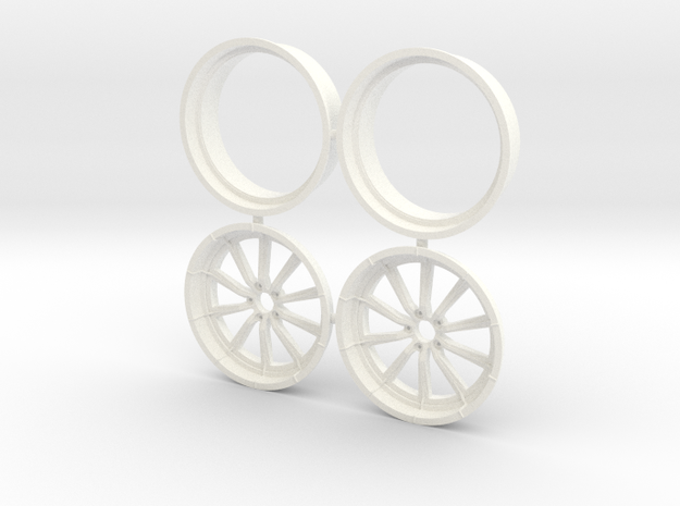 RCComponents 1/12 Front Pair No Lugnuts