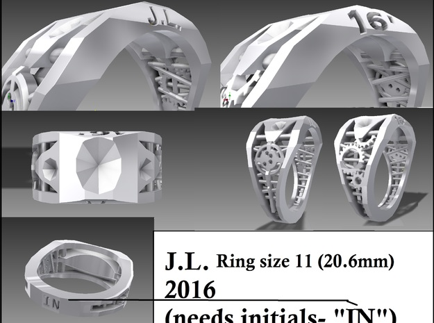 Class Ring 3d printed