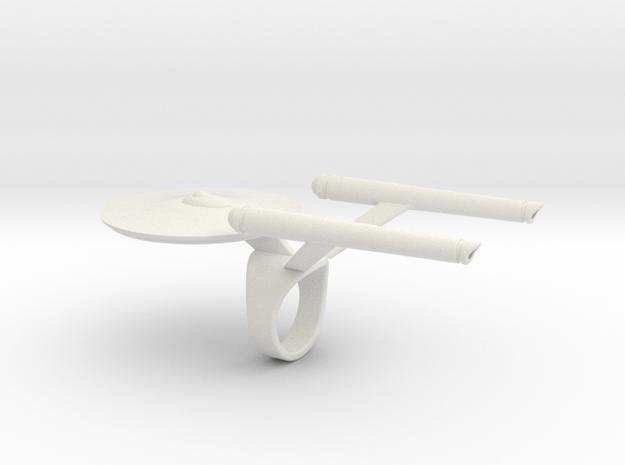 Enterprise Ring  in White Natural Versatile Plastic: 4 / 46.5