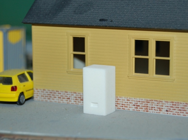 Soda Machine- HO Scale in Black Natural Versatile Plastic