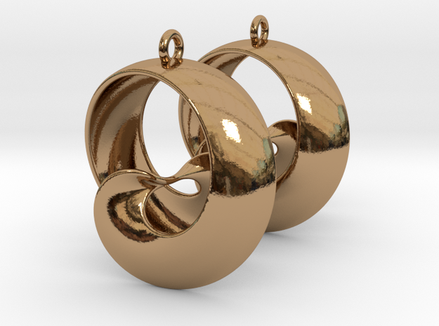 MobTor Earrings: the half Mobius Torus Shell