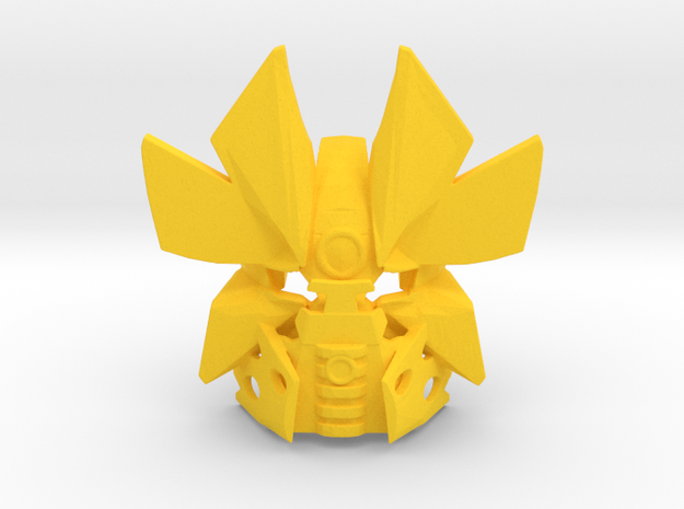 Gen II  Clip On- Mask Of Time - Complete  in Yellow Processed Versatile Plastic