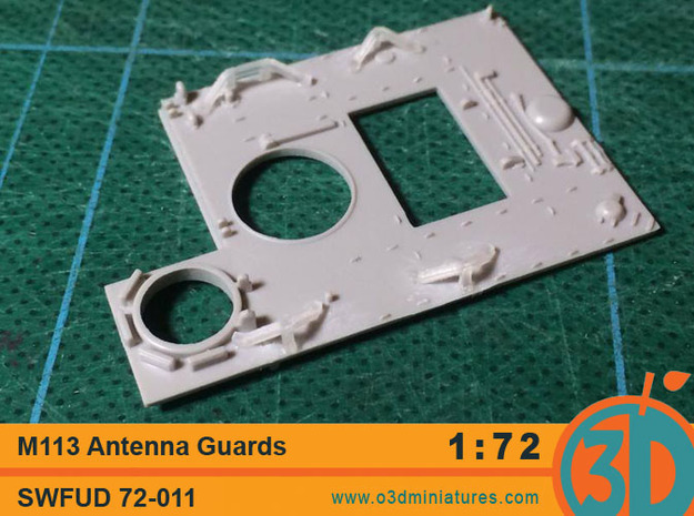 M113 AntennaGuards 1/72 scale SWFUD-011 in Smooth Fine Detail Plastic