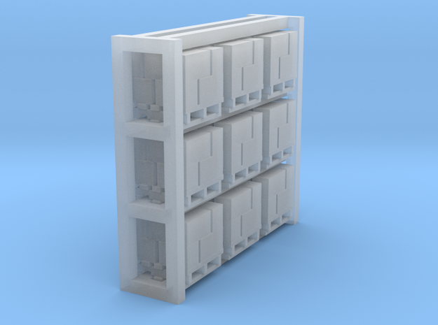 Pallets with Boxes - Set of 9 - Zscale 3d printed