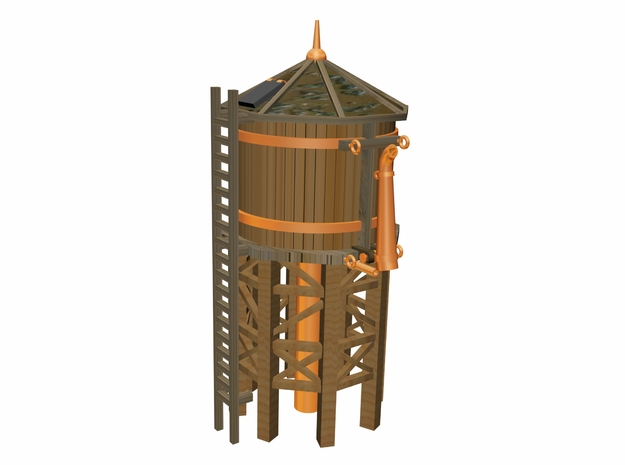 Train Water Tower  3d printed 3 D drawing by Walter Smith
