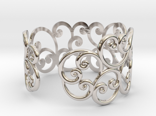 Bracelet Scroll in Rhodium Plated