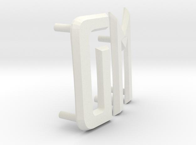 Futurliner GM letters in White Natural Versatile Plastic