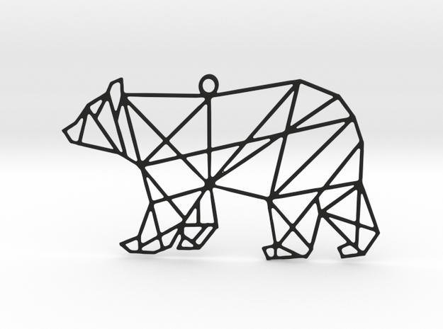 Bear Pendant in Black Strong & Flexible