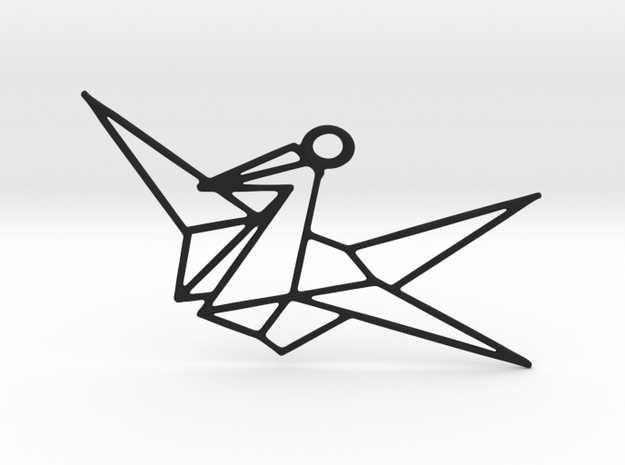 Bird Pendant in Black Strong & Flexible