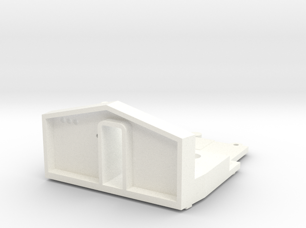 O Scale Baldwin RF-16 Sharknose Cab Floor & Dash in White Processed Versatile Plastic
