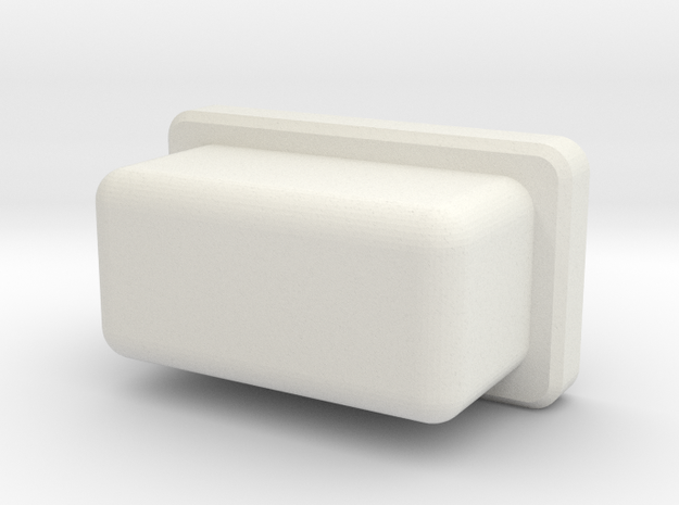 Rectangular firebutton for TalyMod  in White Natural Versatile Plastic