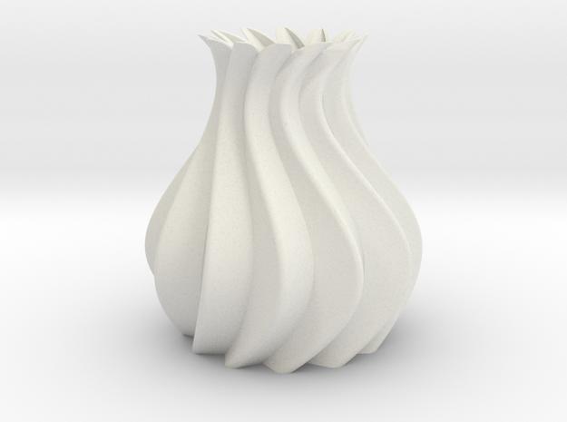 Vase Model A4 in White Natural Versatile Plastic