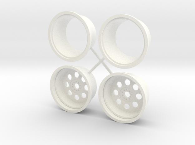 Weld Draglite Rear 1/12 in White Processed Versatile Plastic