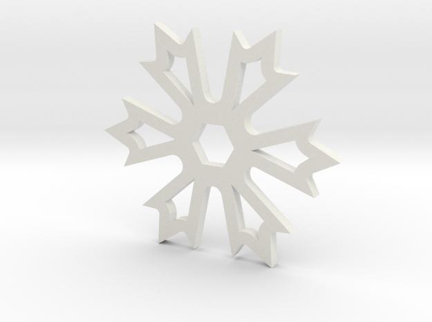 Disz 001 in White Strong & Flexible: Medium