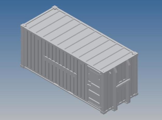 Oelwehr Container Schleswig-Holstein in 1:87 in Red Strong & Flexible Polished