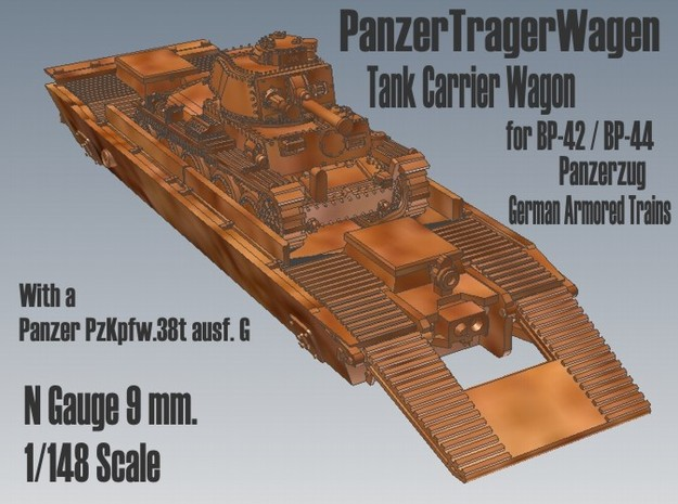 1-148 Pz-Tr-W+ PzKpfw 38t For BP-42 3d printed