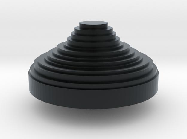 POV switch CHINA hat in Black Hi-Def Acrylate