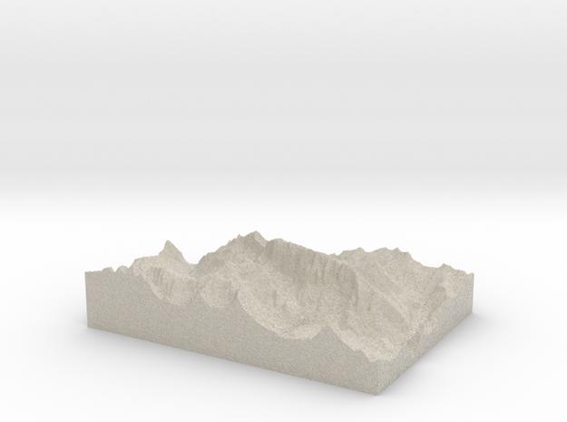Model of La Marmolada (Punta Penia) in Natural Sandstone