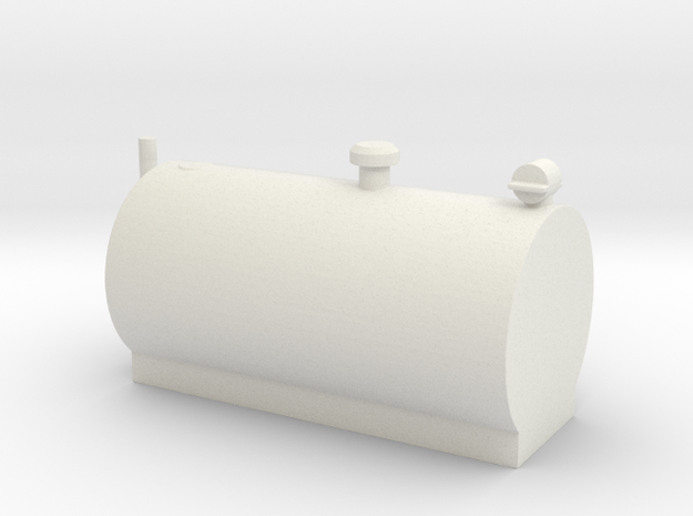 1/64 Big Horizontal Fuel Tank in White Strong & Flexible