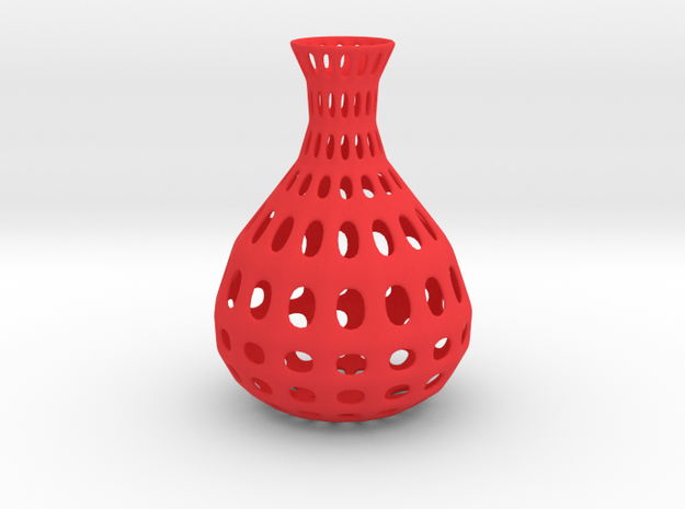 Vase Wire Pattern in Red Strong & Flexible Polished