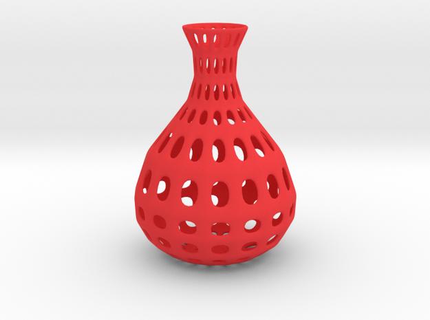 Vase Wire Pattern in Red Processed Versatile Plastic