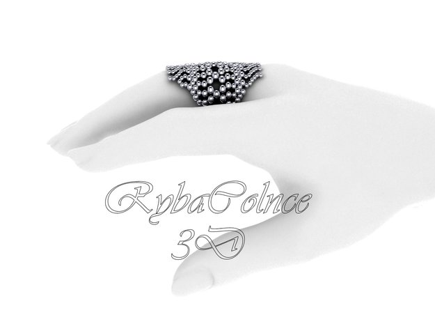 Ring H2O / size 10GK 5US ( 16.1 mm) in Premium Silver