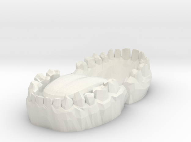 Teeth in White Natural Versatile Plastic