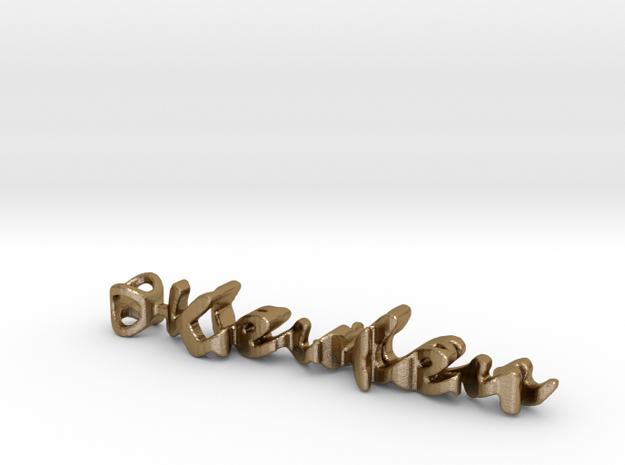 Twine Keychain: Keulen/Jasper in Polished Gold Steel