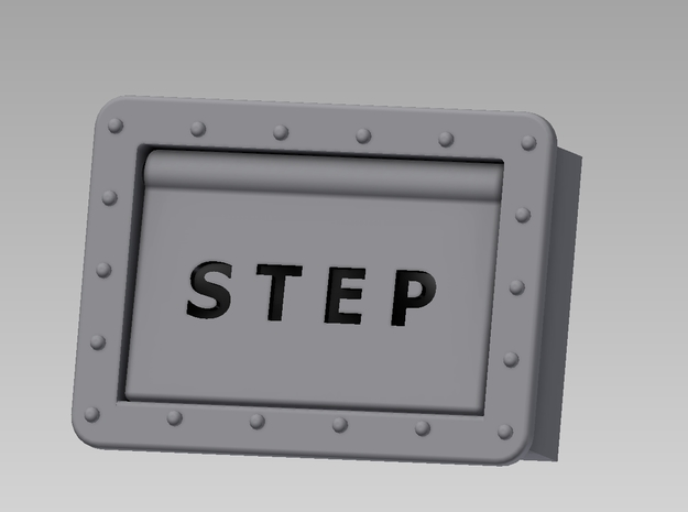 Step Box Assembly in White Processed Versatile Plastic