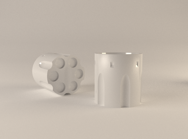 Revolver Cylinder Cup 55ml 3d printed