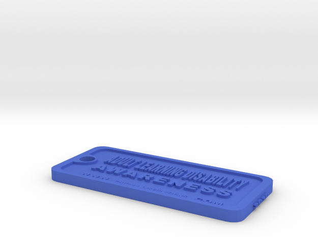 Tag-D-10-A in Blue Processed Versatile Plastic