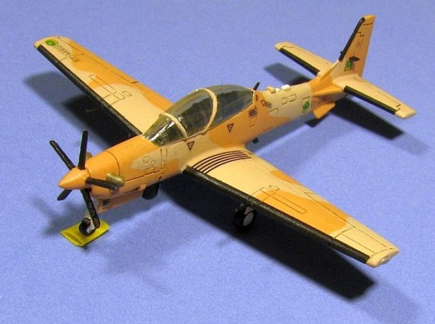 003C Super Tucano 1/144 FD/FUD 3d printed Super Tucano in Mauritanian markings. Model and photos from Stephan Pejic.