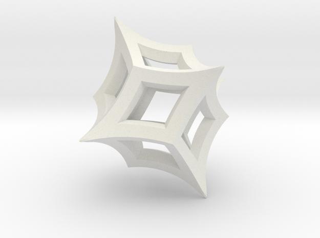 Borromean rings (wireframe) in White Strong & Flexible: Medium