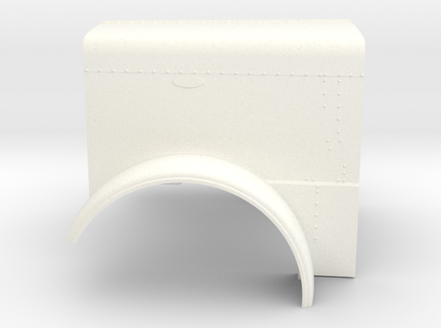 1/24 Peterbilt 379 Ext Hood part for italeri peter in White Strong & Flexible Polished: 1:24