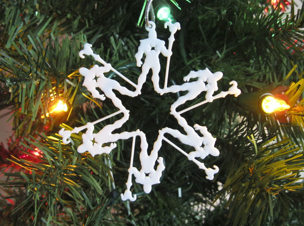 Snowflake Skeletor Ornament 3d printed