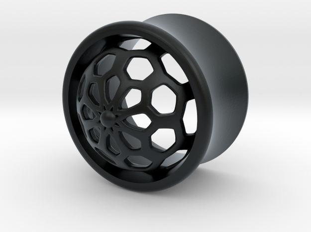 VORTEX1-15mm in Black Hi-Def Acrylate