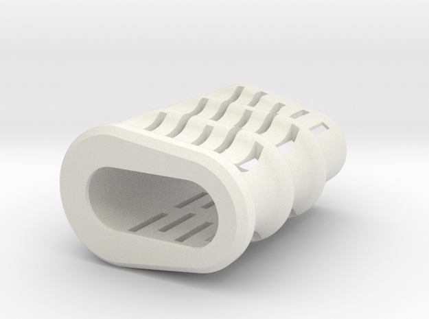 Noisy Cricket Grip - Slotted - 24mm Atomizers in White Strong & Flexible