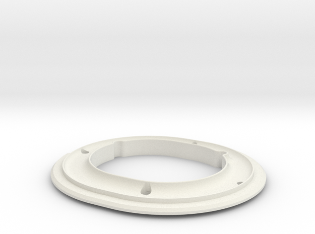 ALPHA, PAD RING.STL in White Natural Versatile Plastic