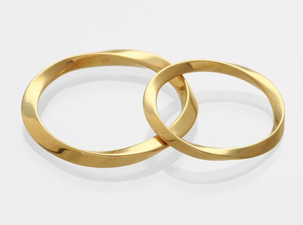 Mobius_wed_S in 14K Yellow Gold: Small