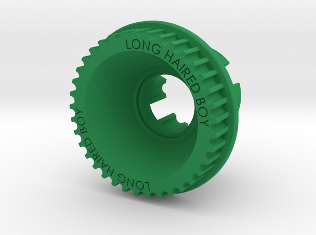 10mm 37T Pulley For Flywheels in Green Processed Versatile Plastic