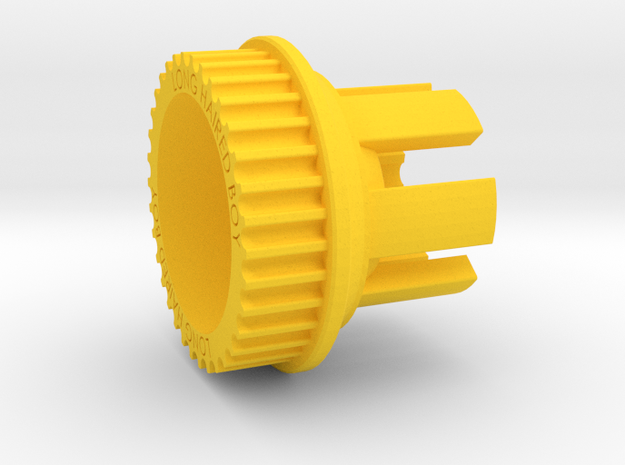 13mm 34T Pulley For Flywheels in Yellow Processed Versatile Plastic