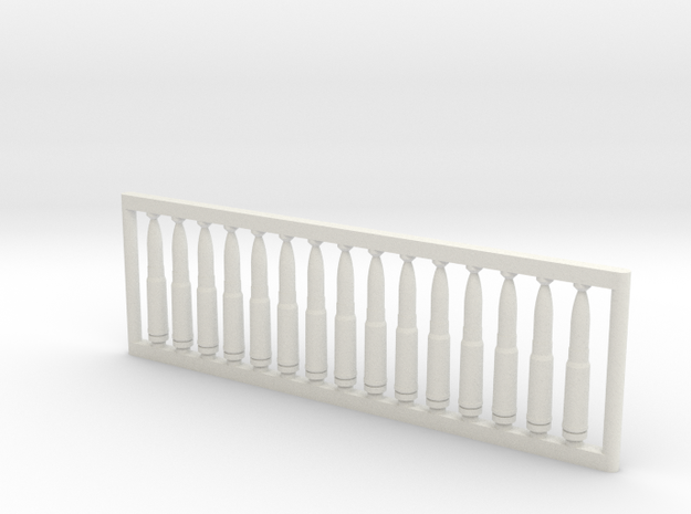 13x64 mm 1:6 scale  x15 in White Natural Versatile Plastic: 1:600