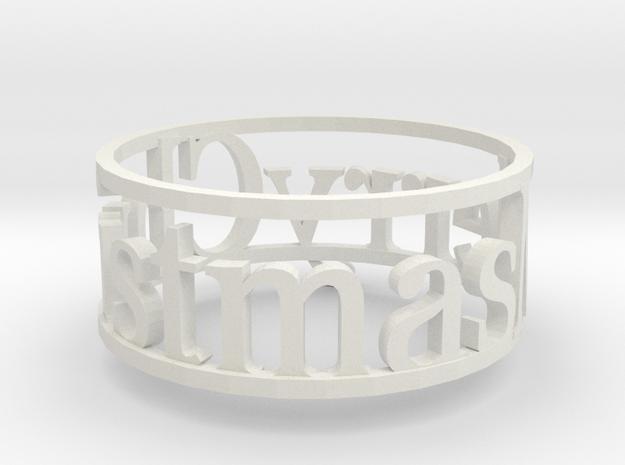 Napking Ring for Christmas in White Natural Versatile Plastic: 6 / 51.5