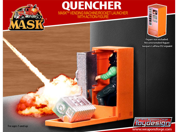 M.A.S.K. The Quencher - Red Parts in Red Processed Versatile Plastic