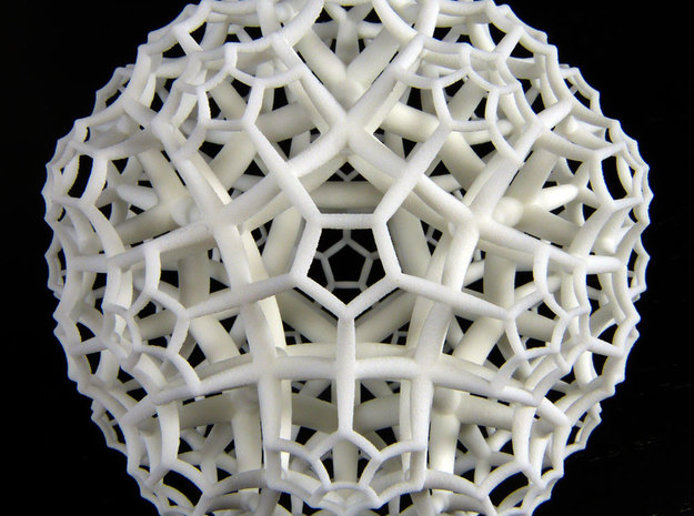 {5,3,4} H³ Honeycomb in White Natural Versatile Plastic