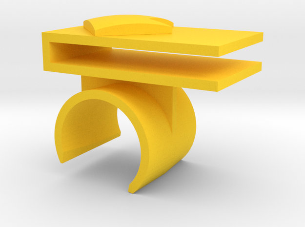 Right Tray Mount in Yellow Strong & Flexible Polished