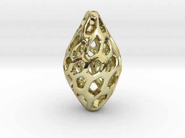 HONEYBIT Twist Pendant in 18k Gold Plated Brass