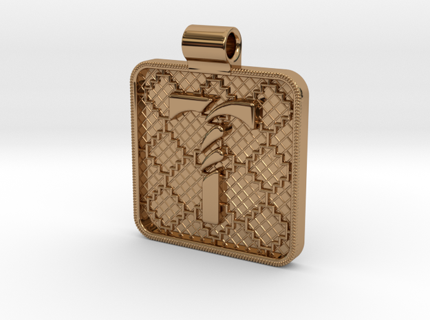 Saxon Pendant T in Polished Brass